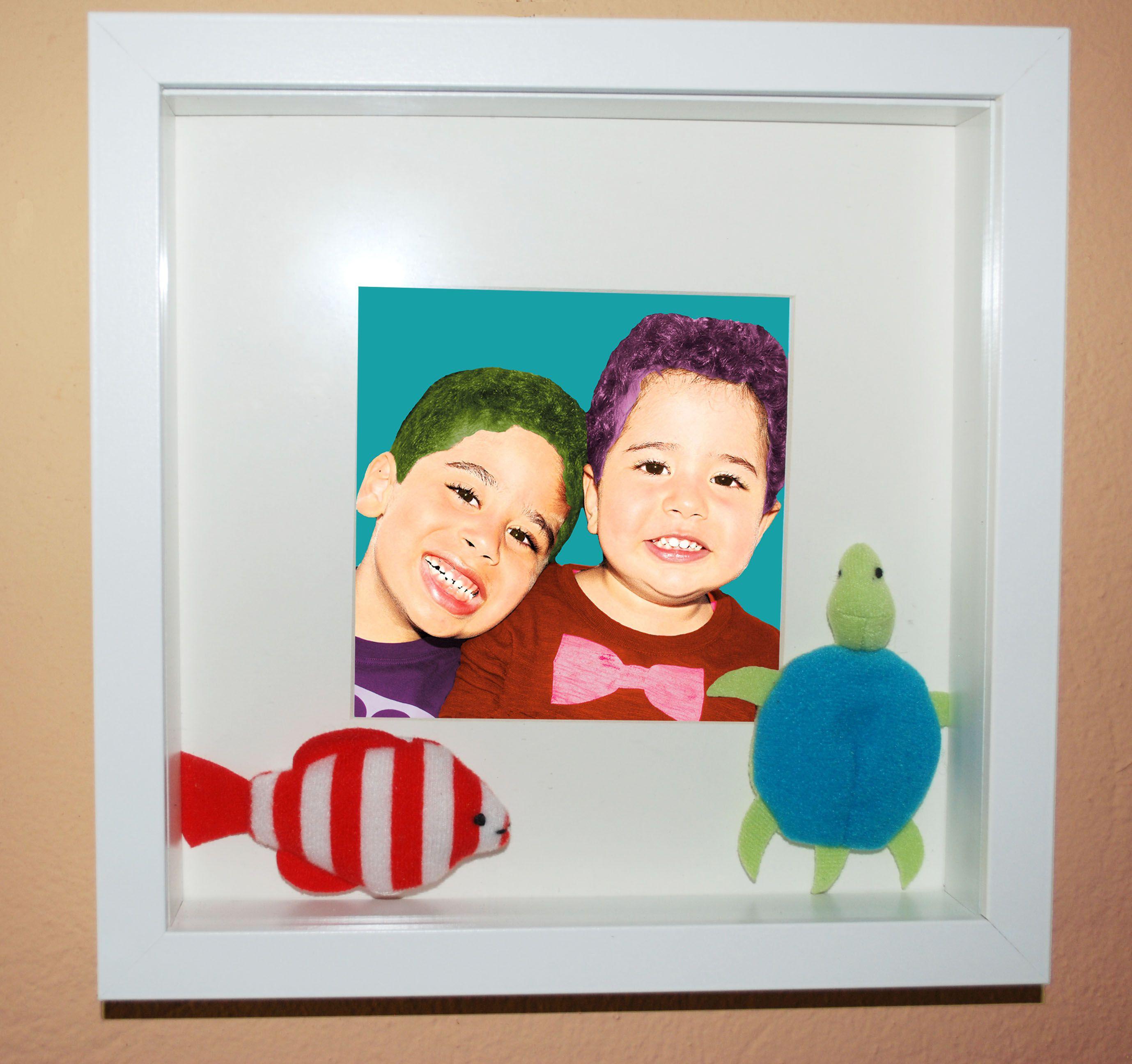 Deep framed Pop art. Cuadro marco profundo con retrato Pop art ...