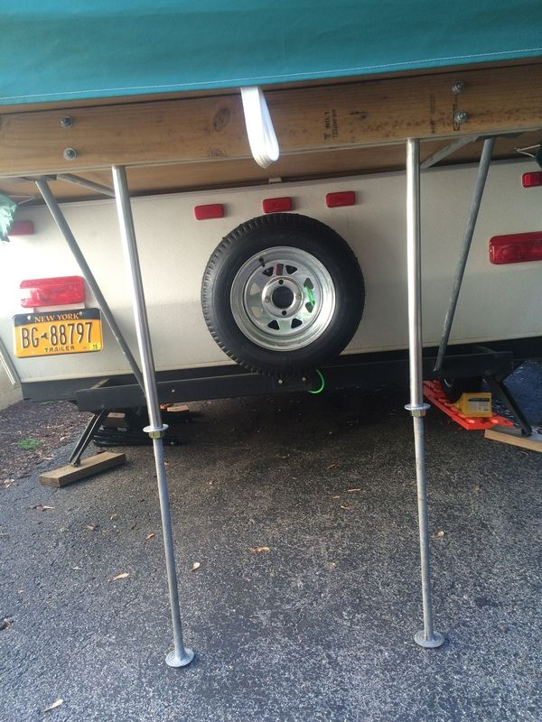 My Solution To A Sagging Bunk End Pop Up Camper Trailer Pop Up