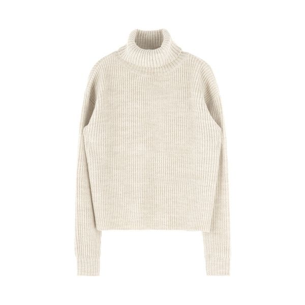 Basic Turtleneck Knit Pullover (1 050 UAH) ❤ liked on Polyvore ...