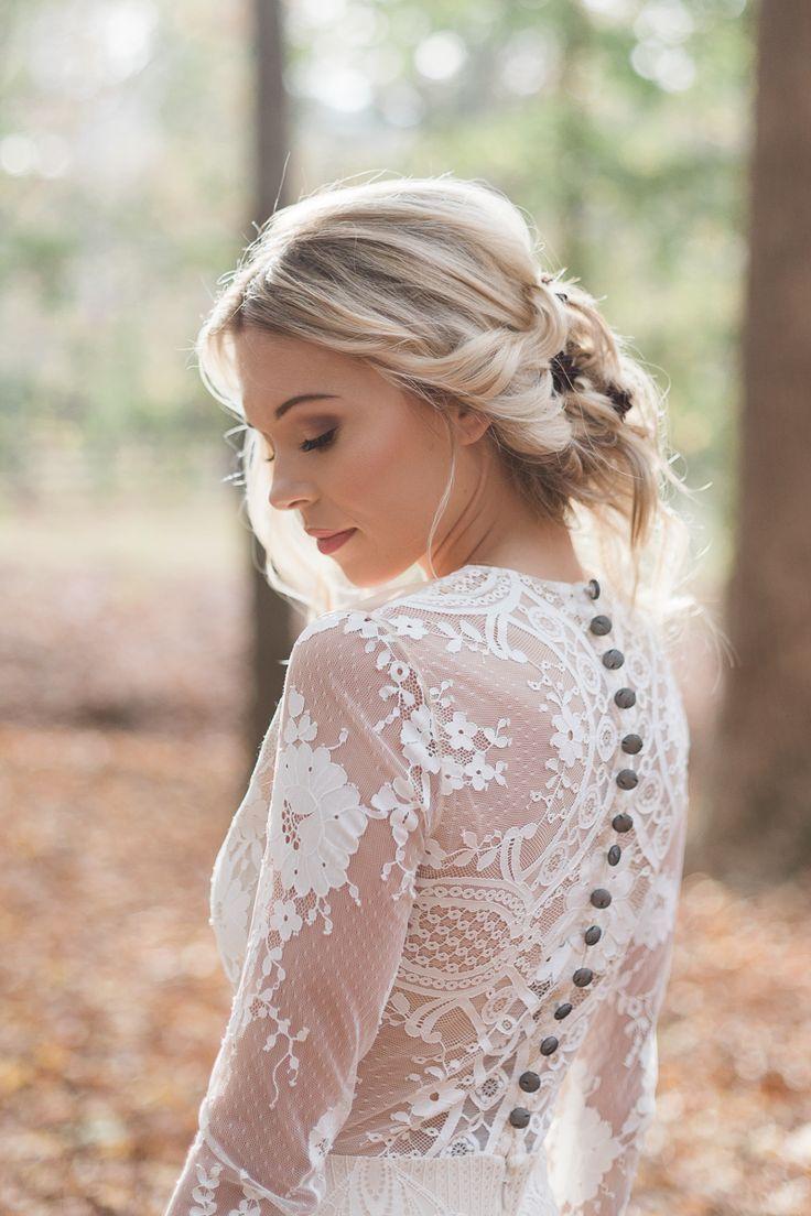 Woodland wedding dress  Georgia Woodland Wedding Inspiration  Gowns Collection and Wedding