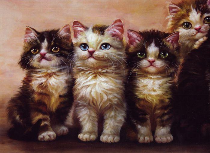 Кошки от китайских художников. Обсуждение на LiveInternet ...