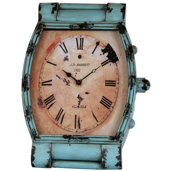 Leigh Table Clock in Blue