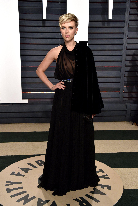 Scarlett Johansson Oscar After Party 2017 Scarlett Johansson Red Carpet Oscars Vanity Fair Oscar Party