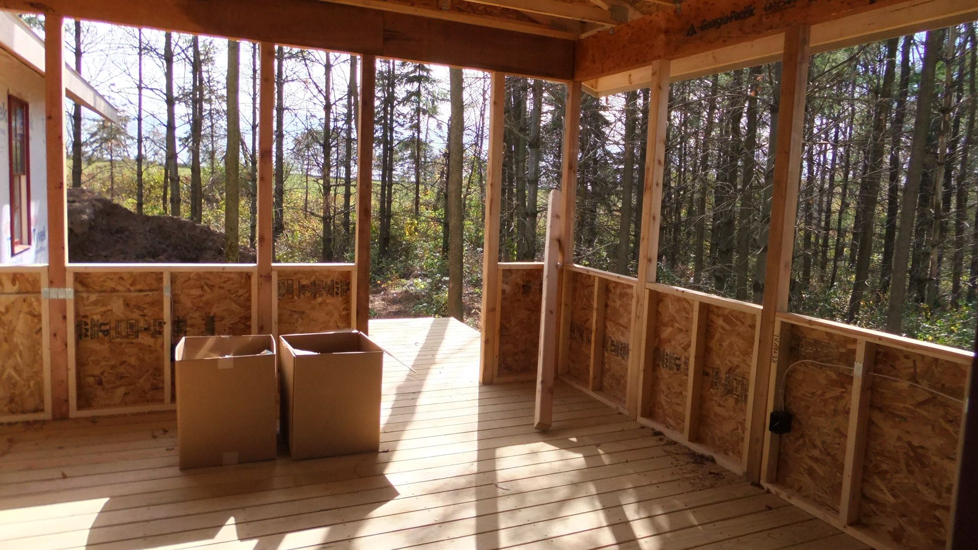 Screen Porch With Outdoor Rug Image Of