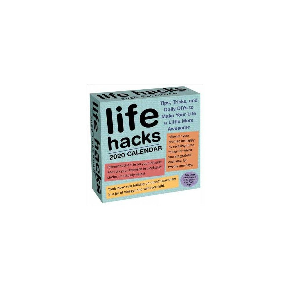 Life Hacks 2020 Day-to-Day Calendar