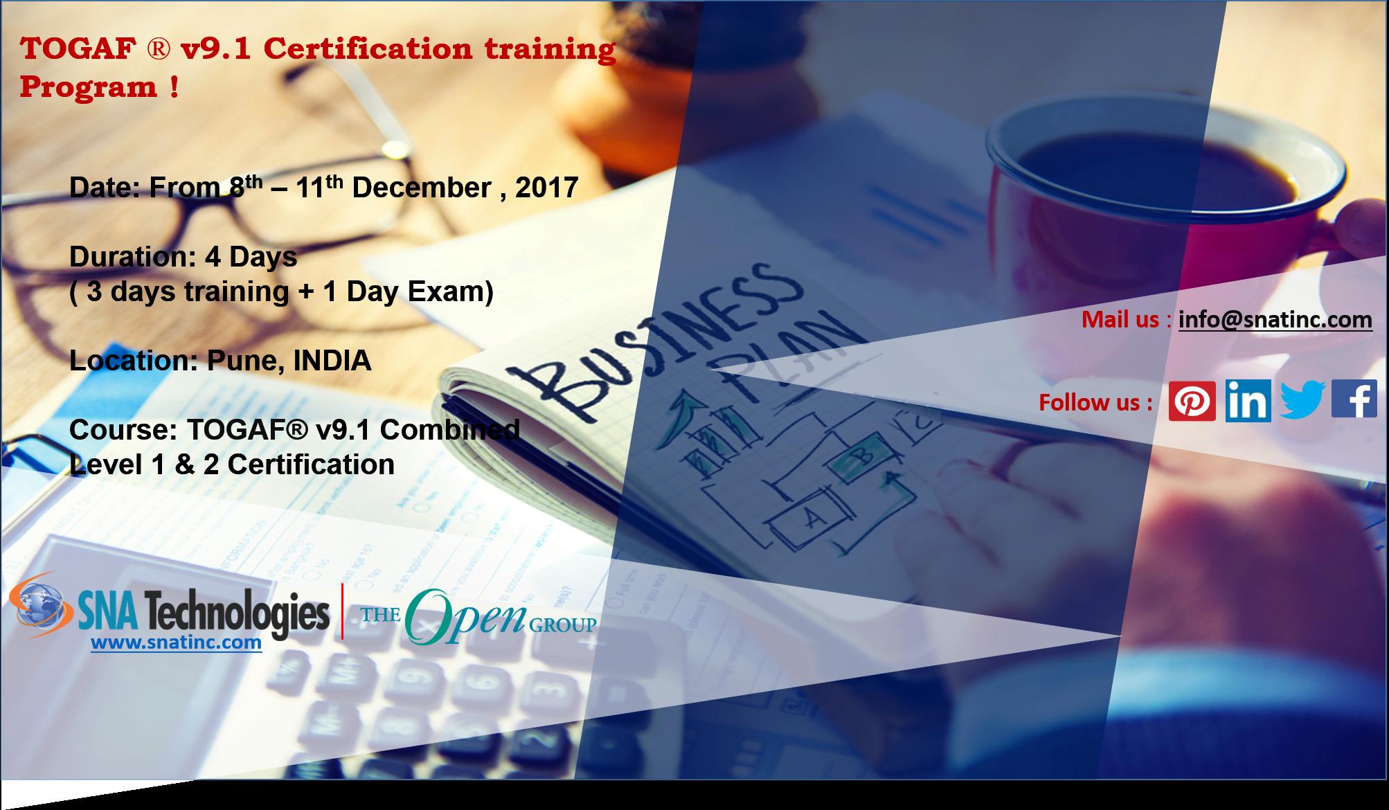 Togaf V91 Certification Program In Pune India For More Details