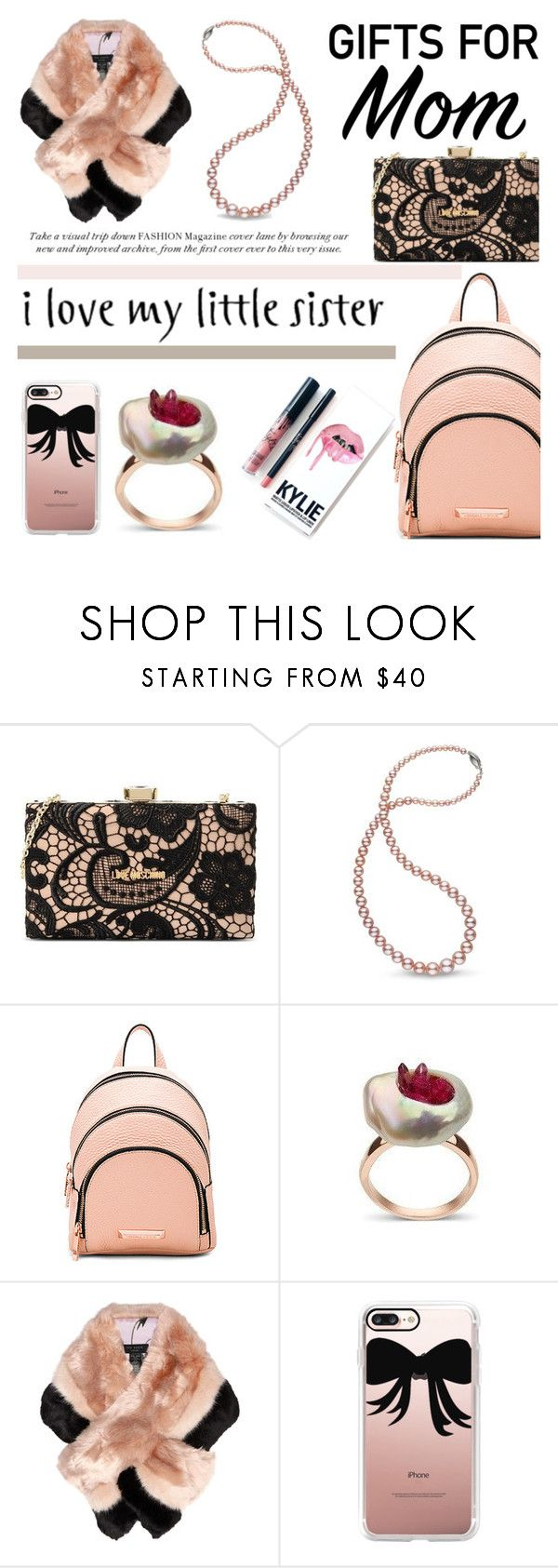 """Gift Guide: Your Mom and Sis"" by littlehjewelry ❤ liked on Polyvore featuring Love Moschino, Kendall + Kylie, Kylie Cosmetics, Ted Baker, Casetify, giftguide, contestentry, pearljewelry, littlehjewelry and christmas2016"