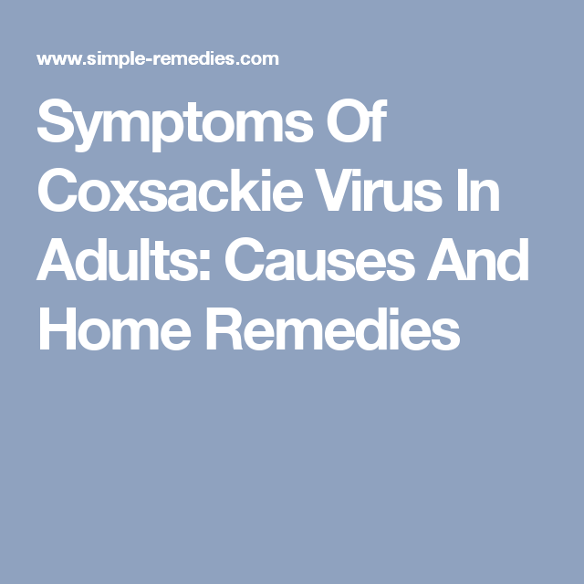 Coxsackie virus adult