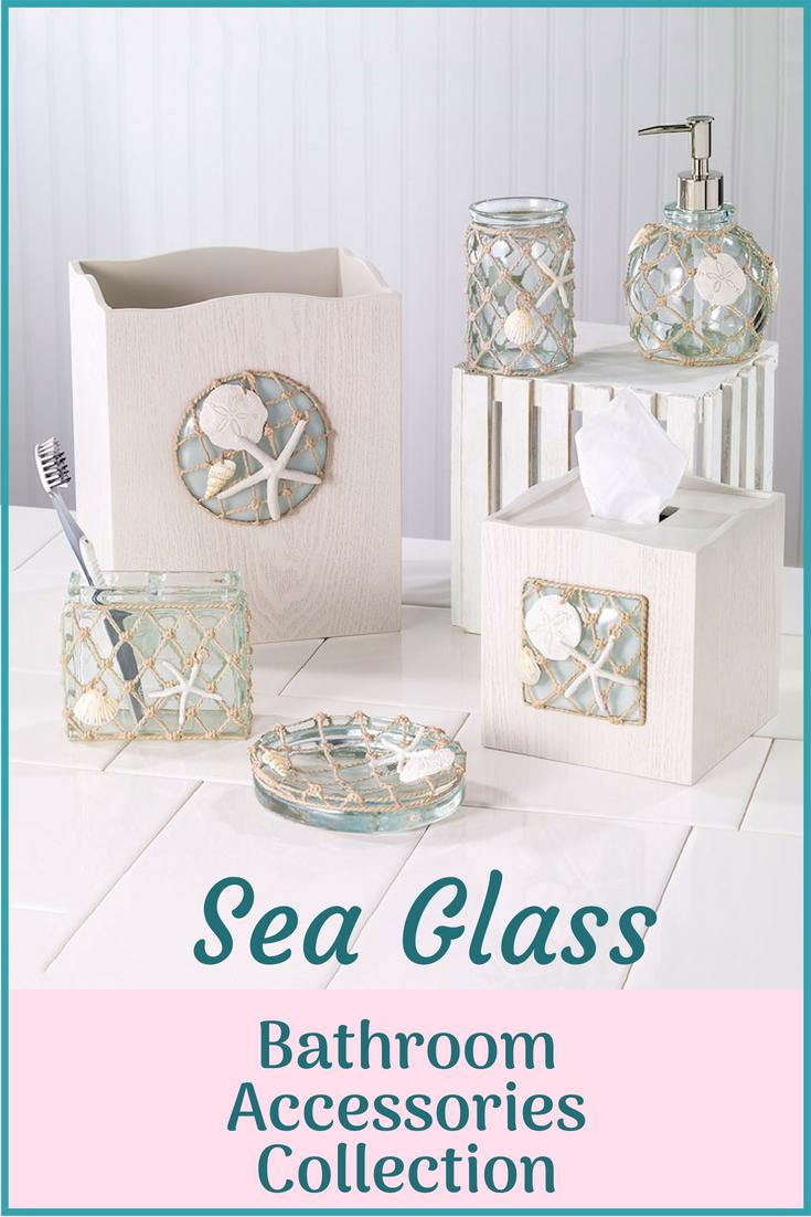 Create a nautical bathroom with these Avanti Seaglass bathroom ...