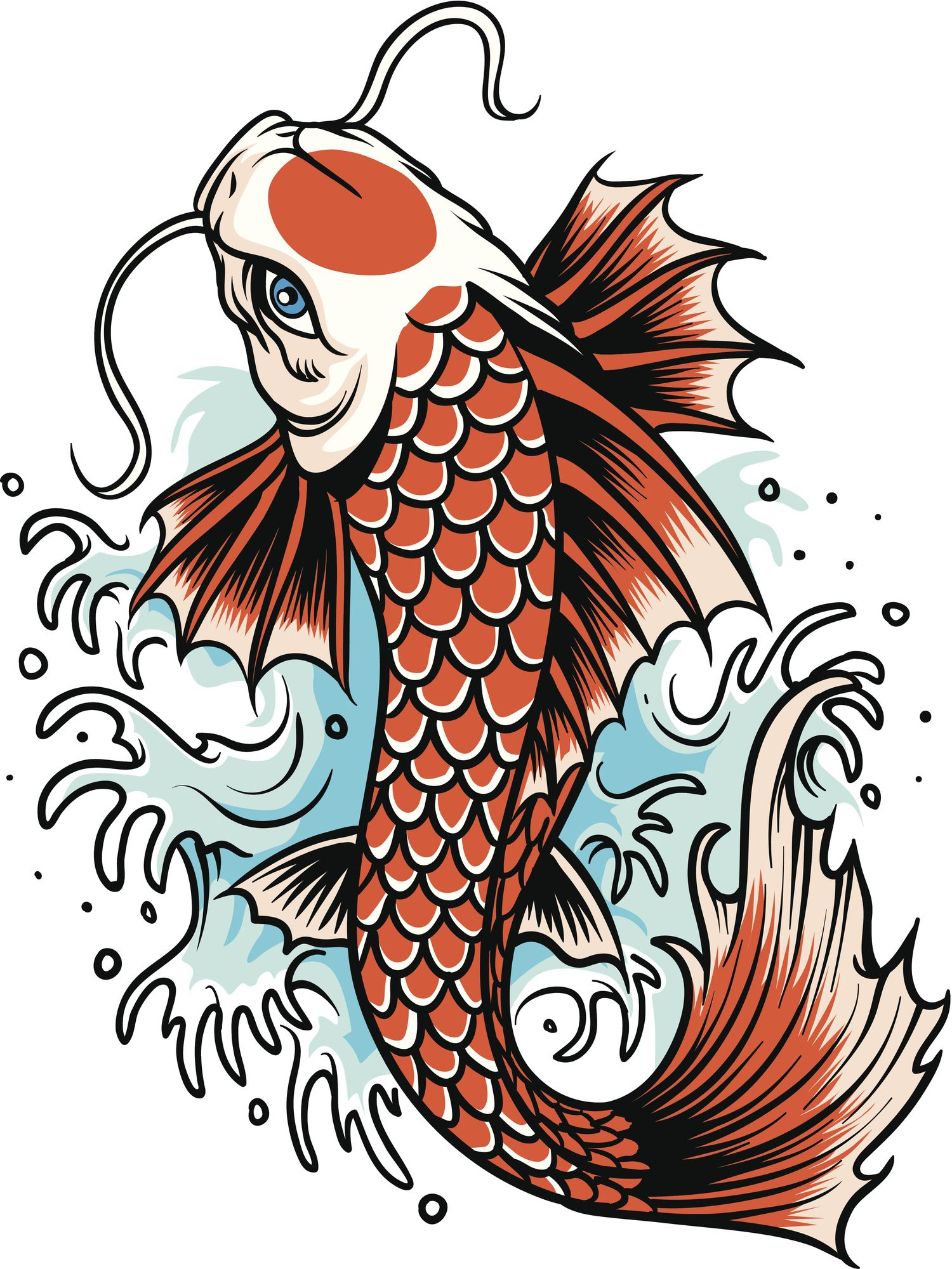 Malvorlagen Fische Karpfen - tiffanylovesbooks