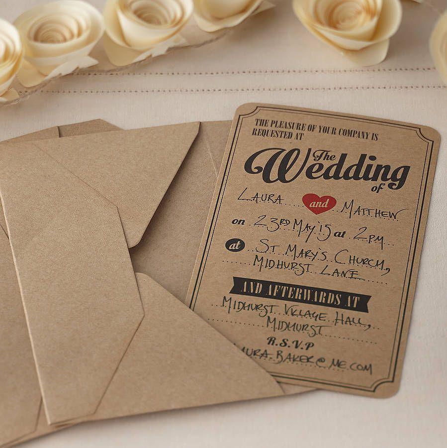 20+ Creative and Unique Vintage Wedding Invitations | Vintage ...