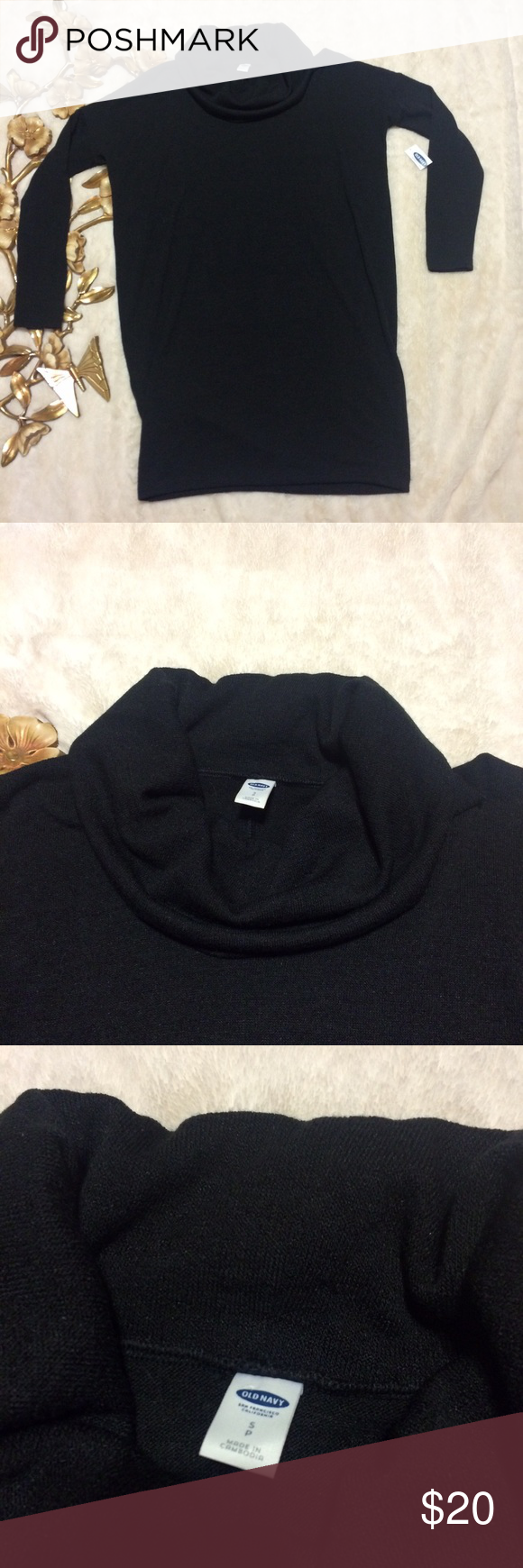 NWT Old Navy Cowl Neck Coco Black NWT Old Navy Cowl Neck Coco ...