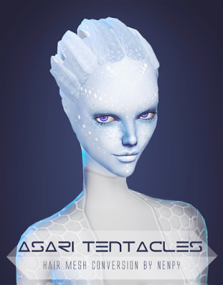 My Sims 4 Blog Ts3 Asari Tentacles Hair Conversion By Nenpy The