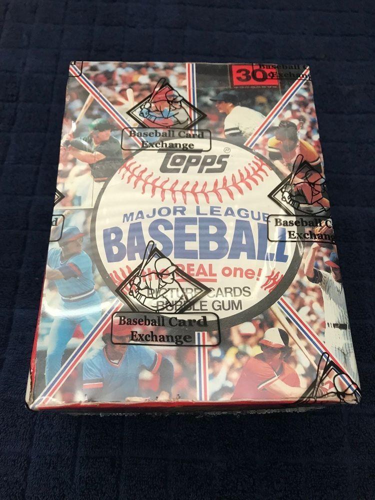1981 topps baseball wax box unopened bbce wrapped