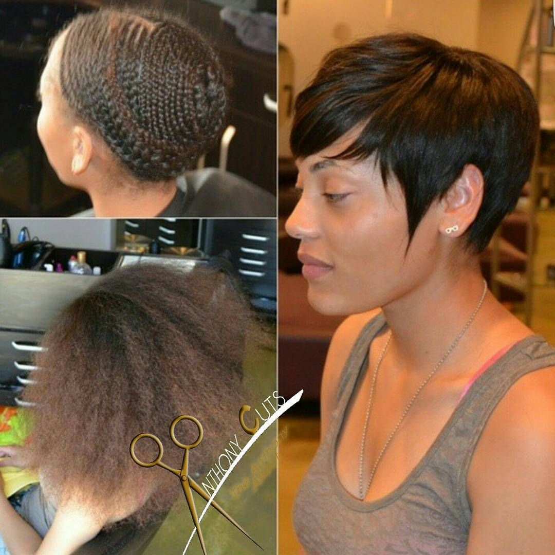 Pixie Sew In By Theanthonyaffect Hair Affairs Pinterest