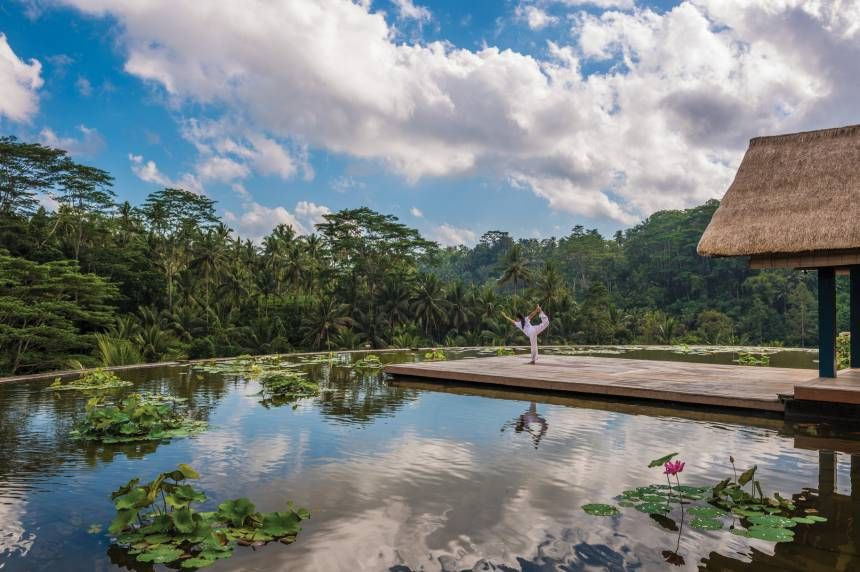 Relax and practice Yoga near the soothing backwaters in Coonor, South India.  #Yoga #Yogi #YogaDestinations #Coonor #India #YogaInIndia #valley #Nature #Peace