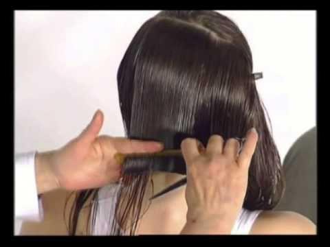 Из длинных волос в градуированное каре - YouTube