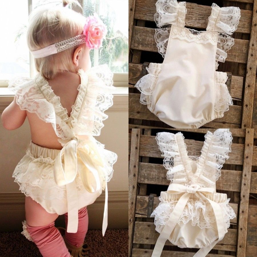 Lace dress for baby girl  Kids Baby Girls Clothes Lace Ruffle Romper Bodysuit Jumpsuit Sunsuit