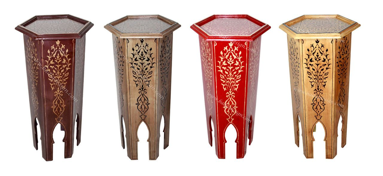 Moroccan Hand Painted Accent Table Imported From Morocco   HP314, (http://