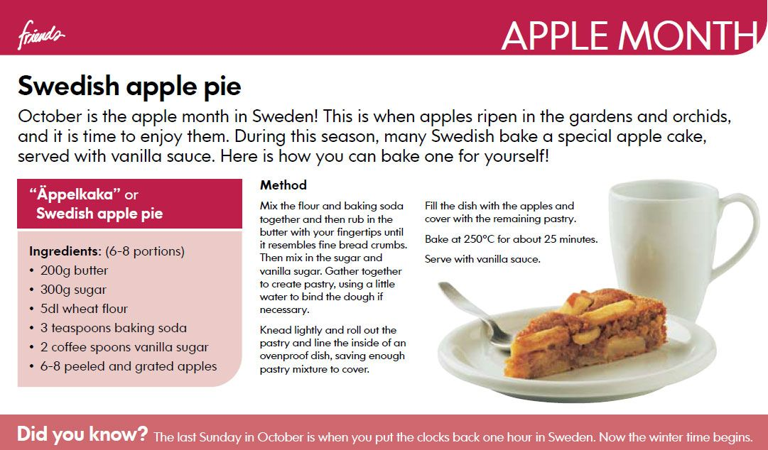 Swedish Apple Cake Recipe Ikea