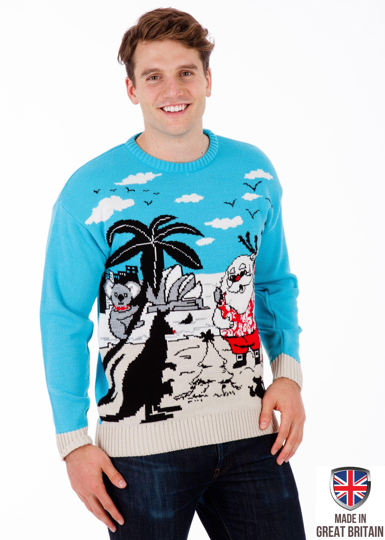 'Christmas in Australia' Christmas sweater men