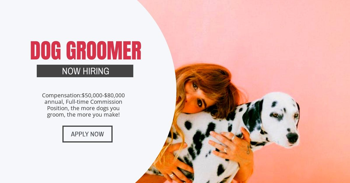 Nowhiring dog groomer min 2yr exp personalcare spas