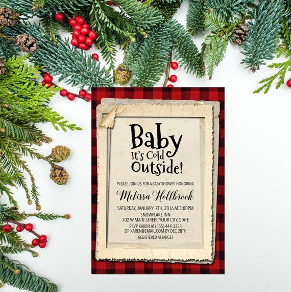 Lumberjack Baby Shower Invitation Printable Baby Its Cold Kathy\u0027s
