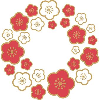 お正月 梅 紅白イラスト 無料イラストなら イラストac 梅 イラスト 正月 イラスト 梅の花 イラスト