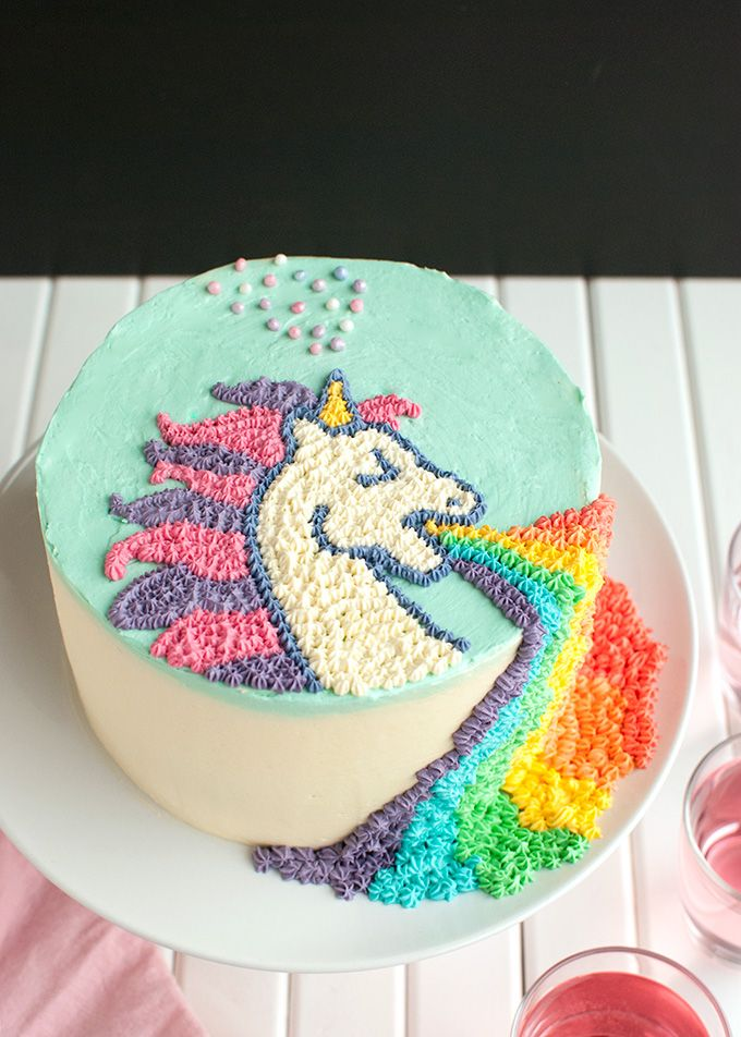 Puking Unicorn Cake
