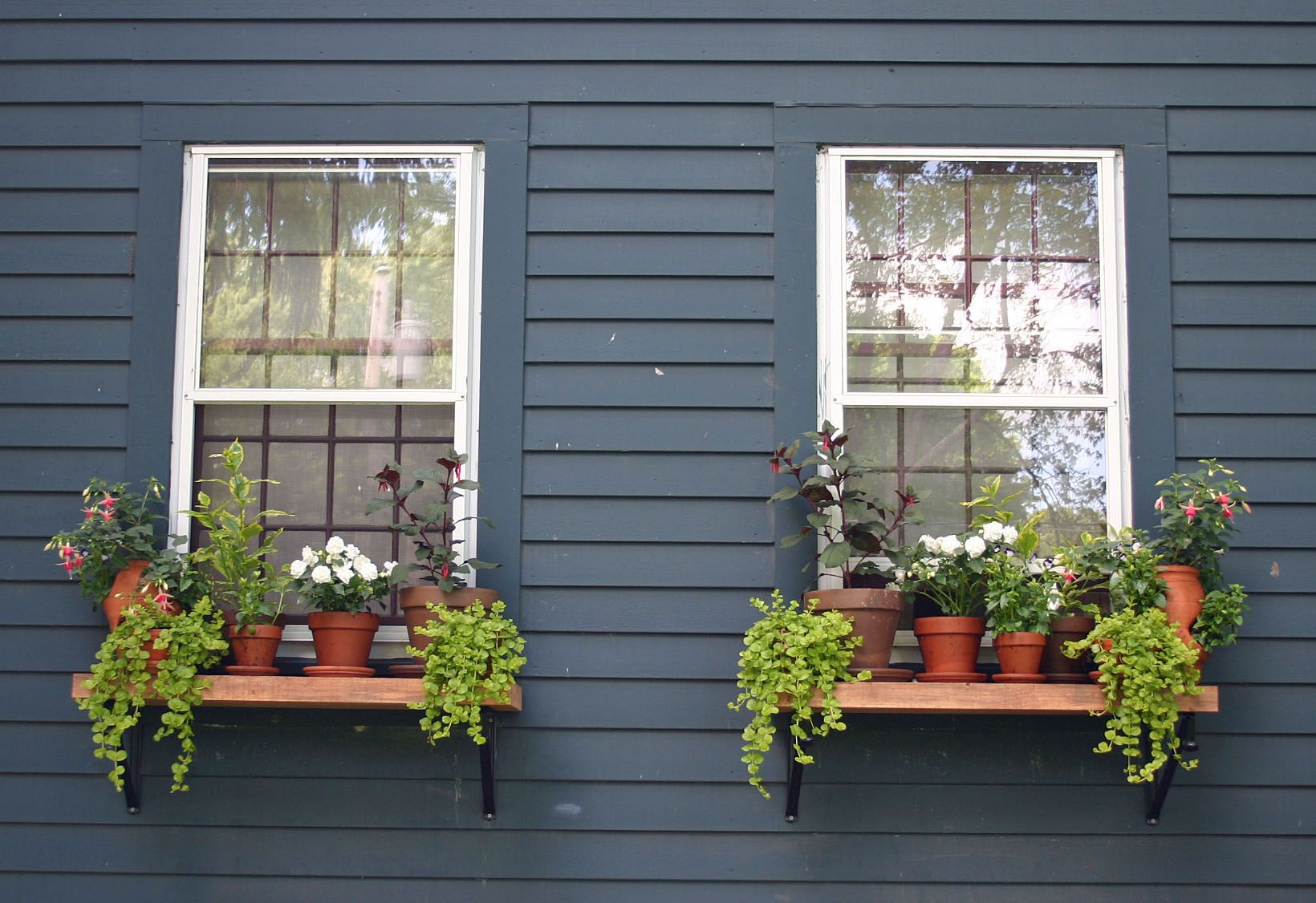 Homemade Outdoor Window Shelves Always Thinking Outside The Box