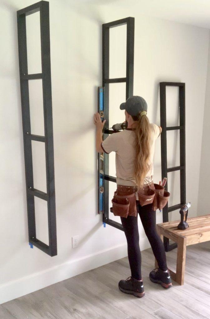 DIY Floating Ladder Shelves