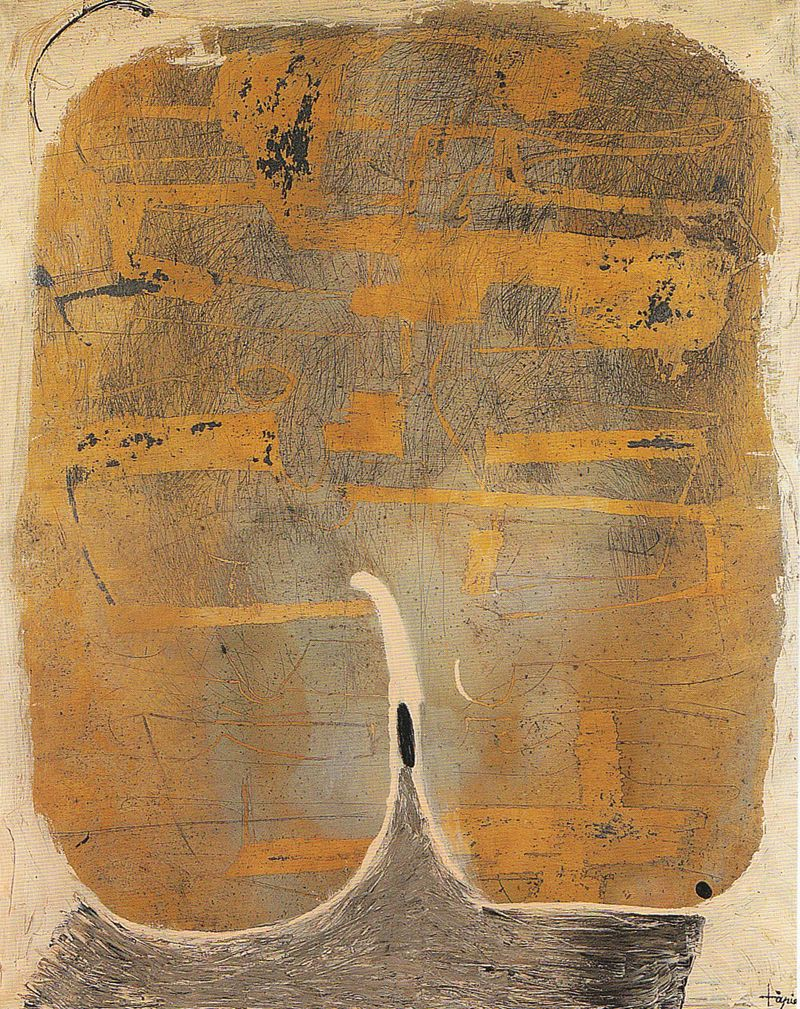 Pinturas De Antoni Tapies Antoni Tapies Painting N 27 Oil And Varnish On Canvas 1955