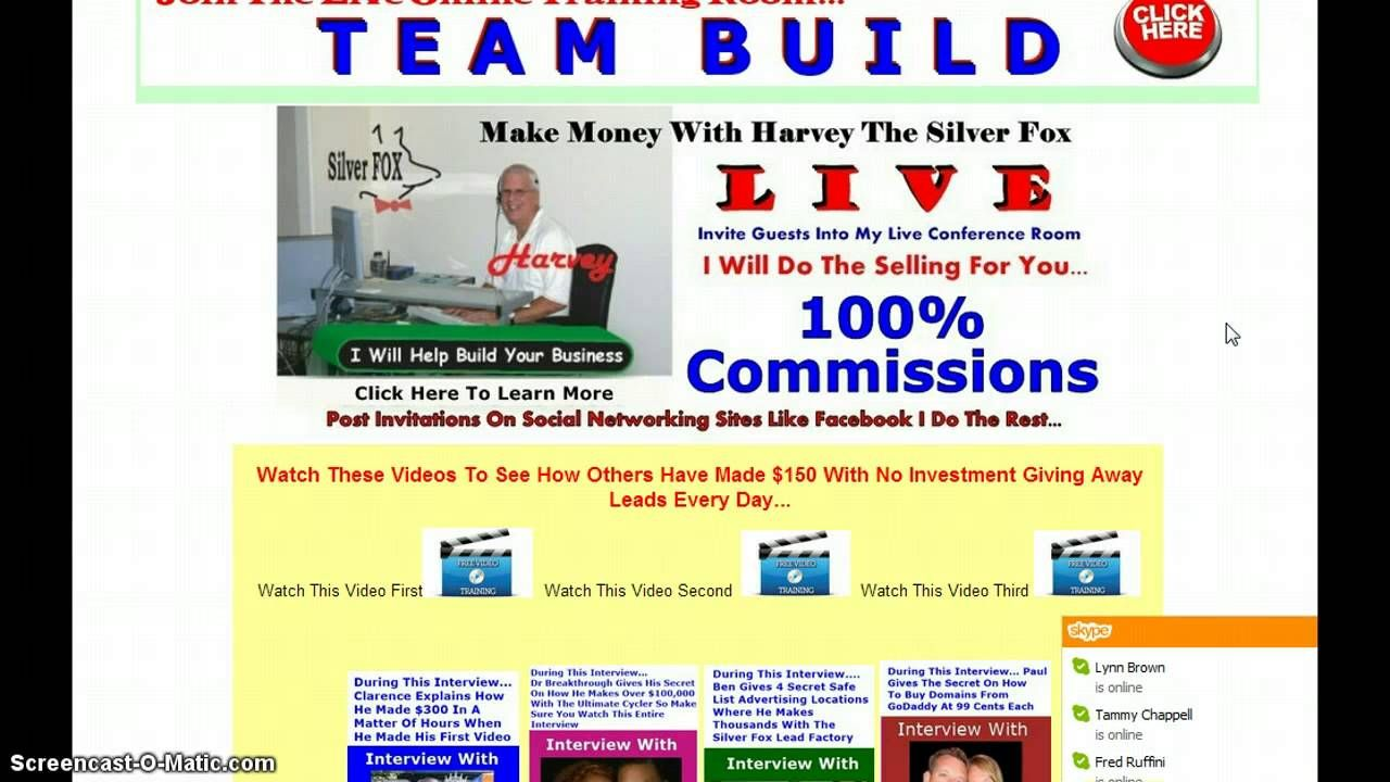 Go Here To Access Howard Ainley   Silver Fox Lead Factoy   Silver Fox Profit Centre: http://silverfoxleadfactory.com/cp5.php?user=rainman   This marketing platform has an Alexa ranking below 80,000.  If you are an affiliate of any of the programs on this page you are welcome to replace your sponsor's affiliate link with yours AT NO CHARGE. The traffic you will receive to YOUR Silver Fox Lead Factory Profit Center every month will be in the THOUSANDS...