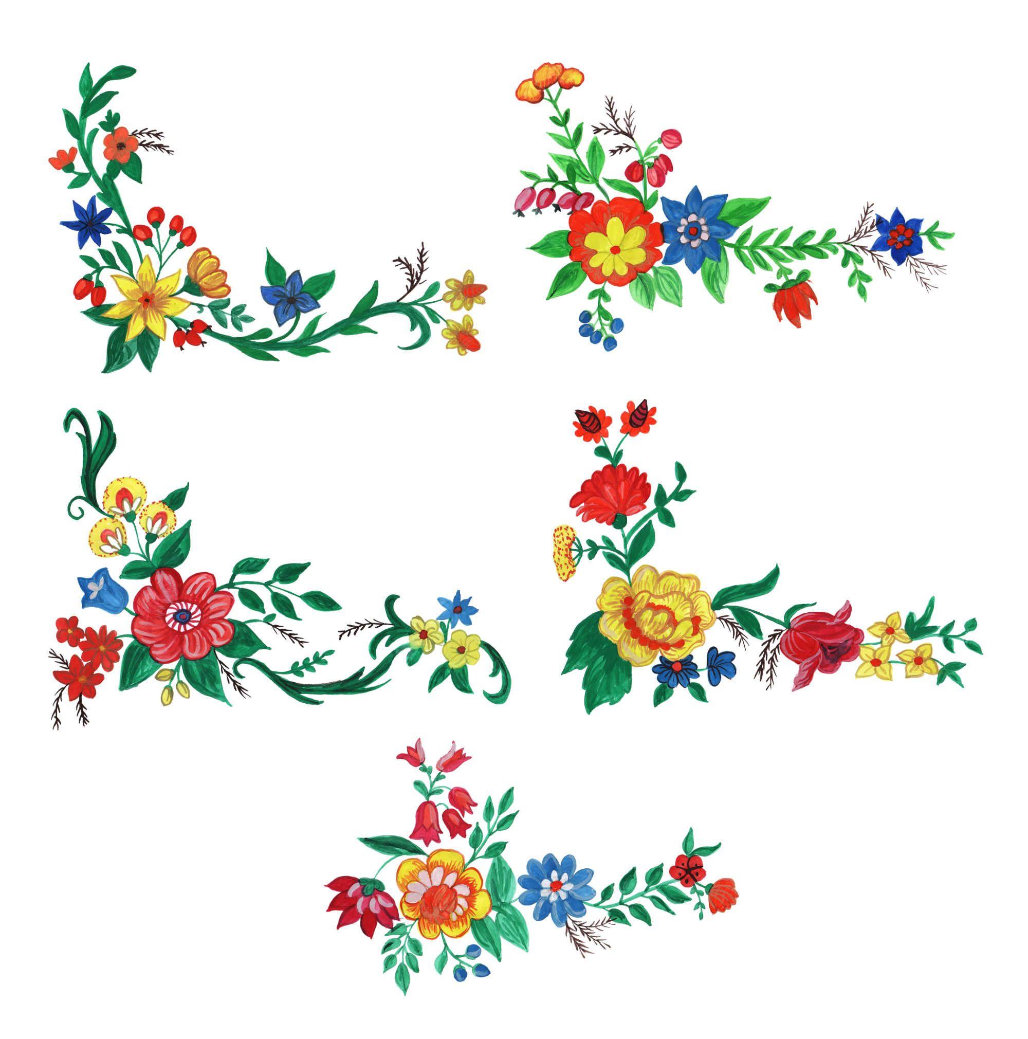 5 Watercolor Flower Corner Png Transparent Vol 2 Onlygfx Com Watercolor Flowers Watercolor Flowers