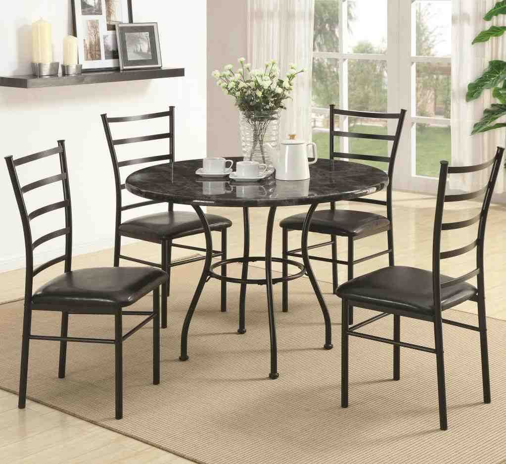 Black Metal Dining Chairs Glass Round Dining Table Glass Dining Table Dining Table Chairs
