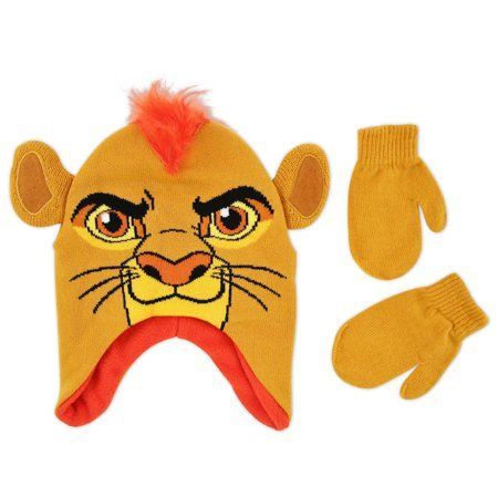 1dd69f2fbb0 Disney The Lion Guard Kion Character Hat and Mitten Cold Weather Set ...