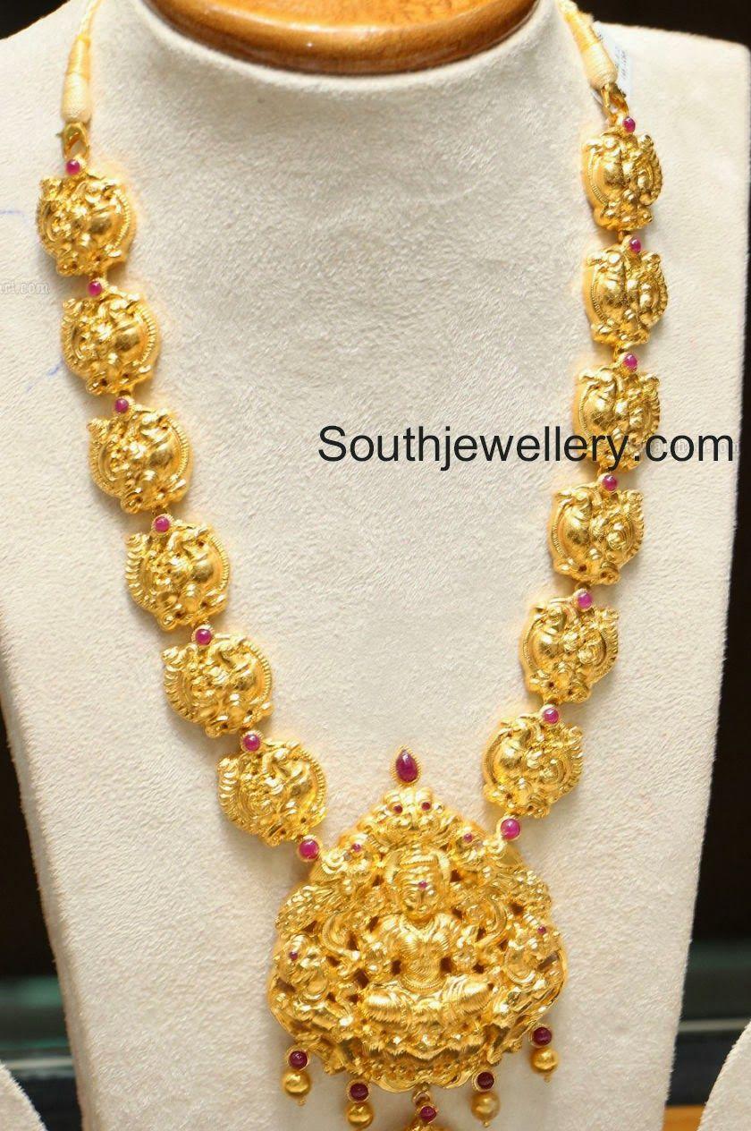 Antique Gold Lakshmi Haram | Jewellery in 2019 | Jewelry