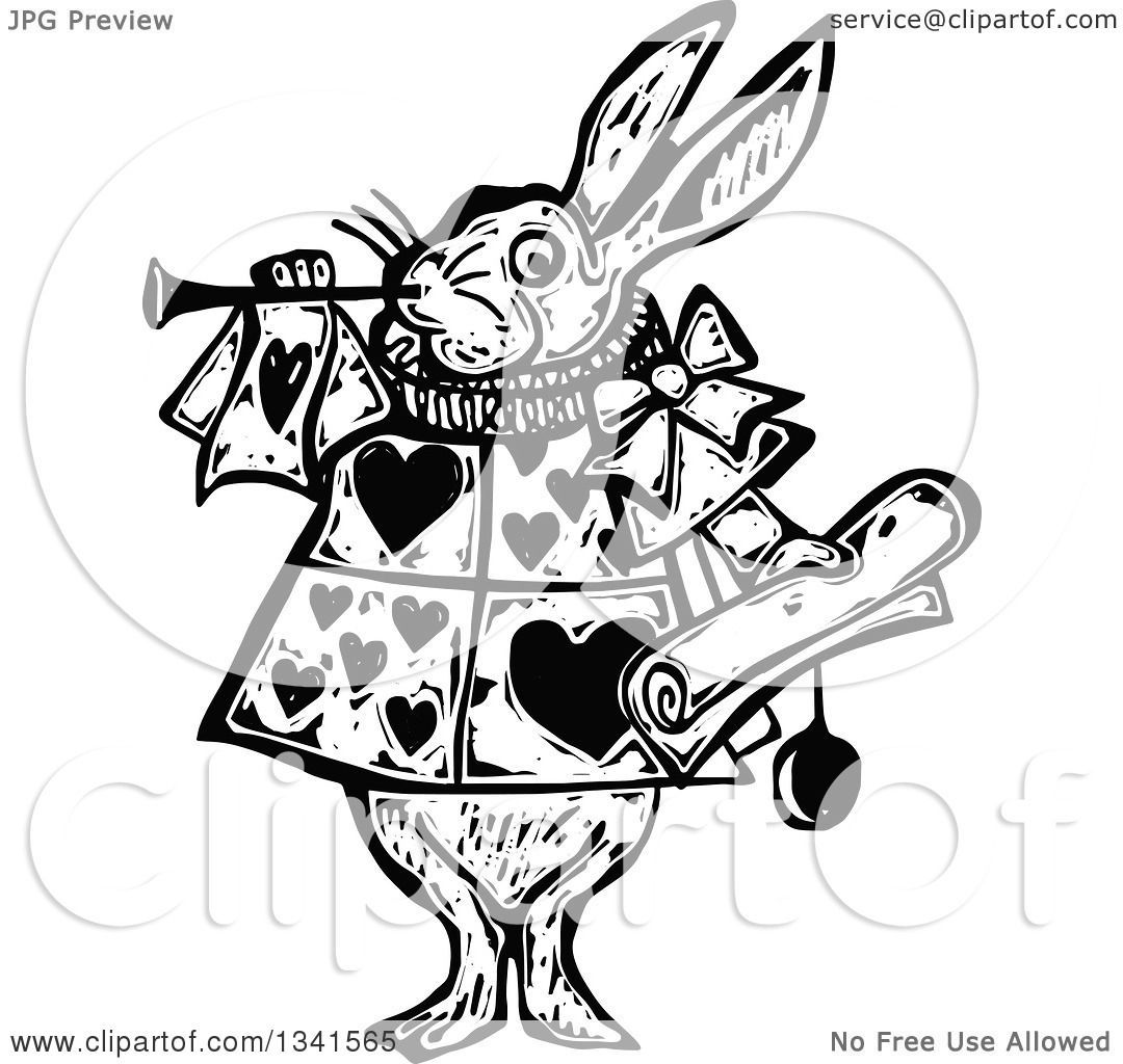 image result for free rabbit clipart black and white [ 1080 x 1024 Pixel ]
