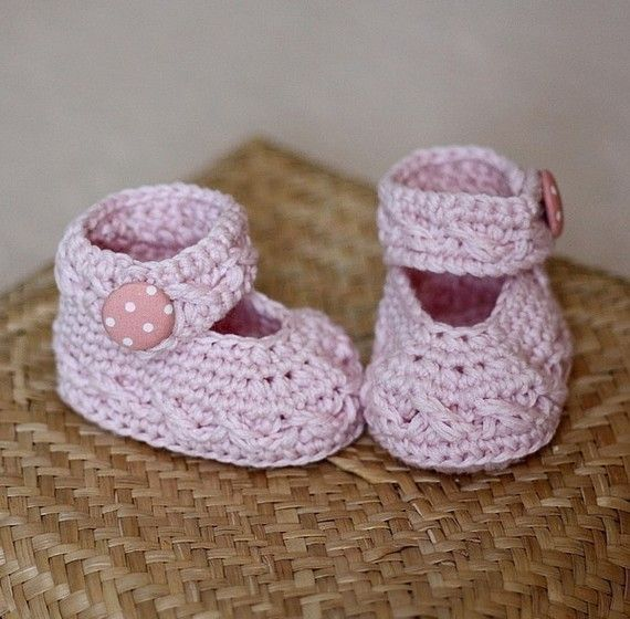 Crochet PATTERN - Polka Dot Baby Mary Janes | Bebé