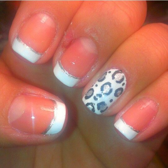 White and silver leopard print