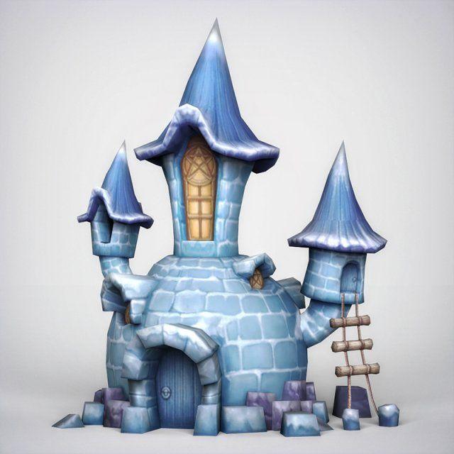 Fantasy Igloo 3D Model .max .c4d .obj .3ds .fbx .lwo .stl @3DExport.com by gamingarts
