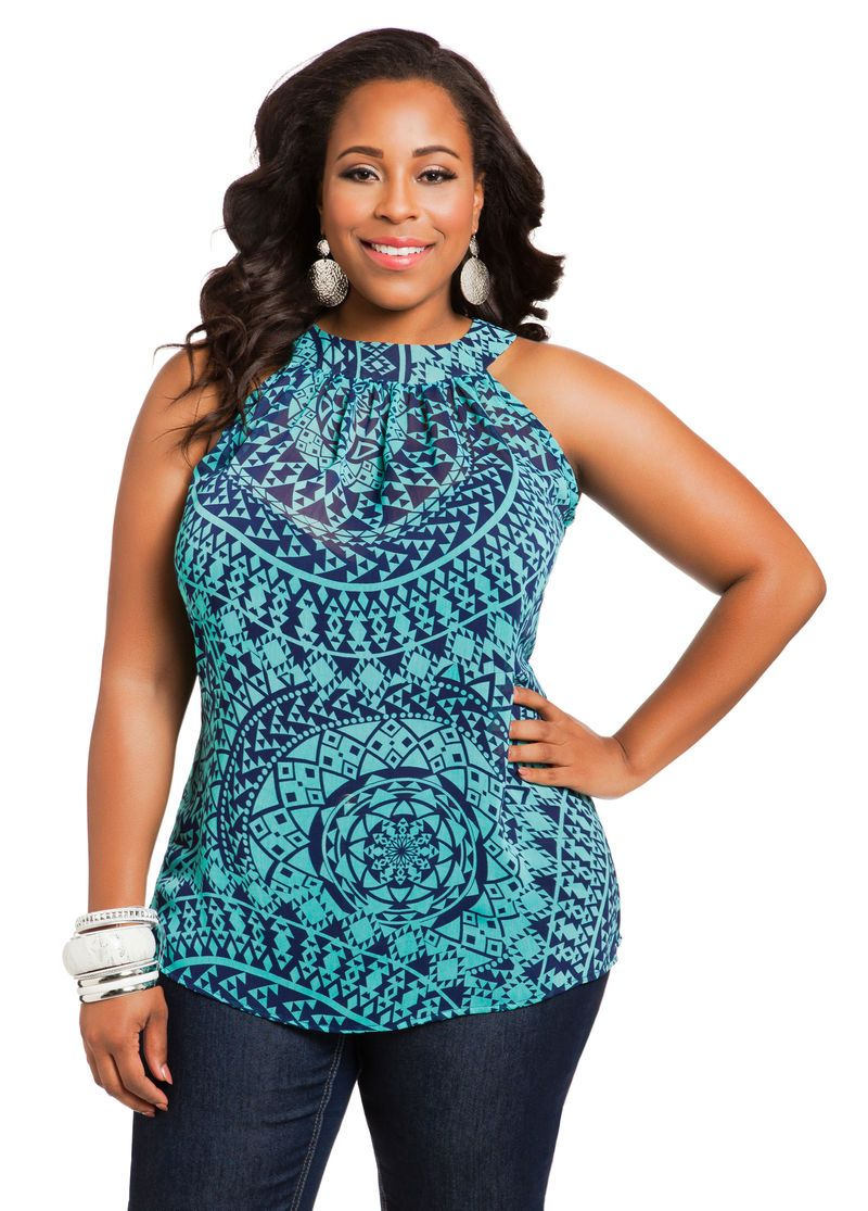 pretty plus size tops for spring under plus model mag