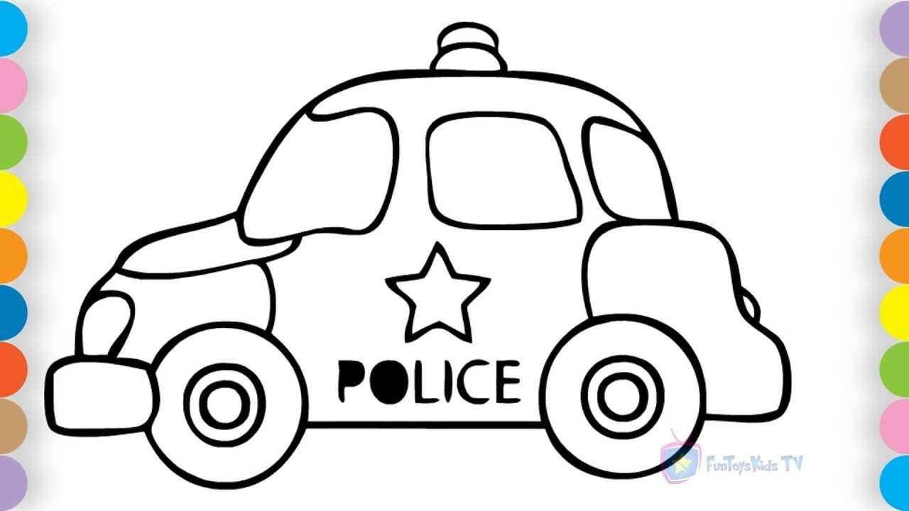 Toddlers coloring pages How to draw Car Car coloring