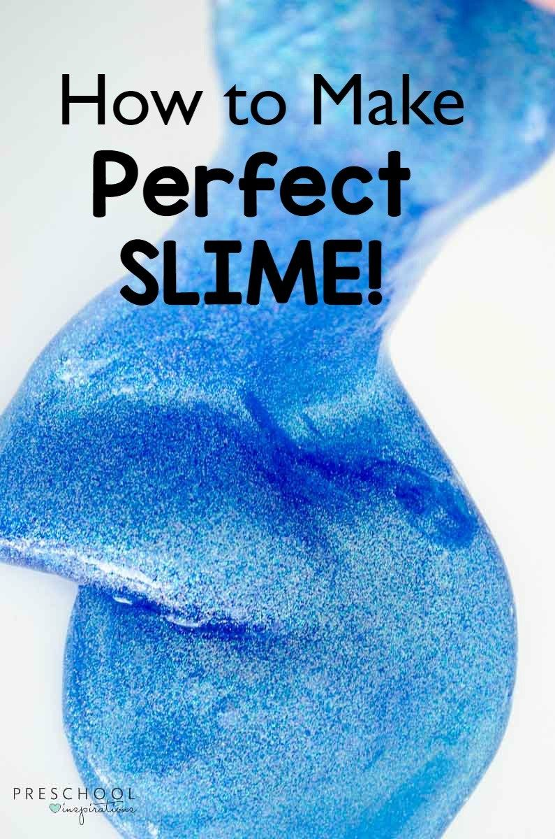 How to Make Perfect Slime | Slime recipe, Slime and Calming