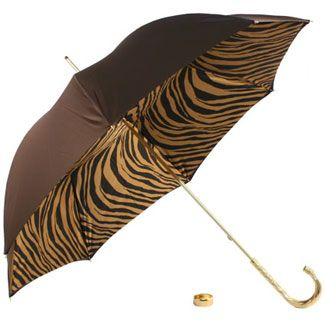 Glamour Chocolate and Black Double Canopy Umbrella by Pasotti