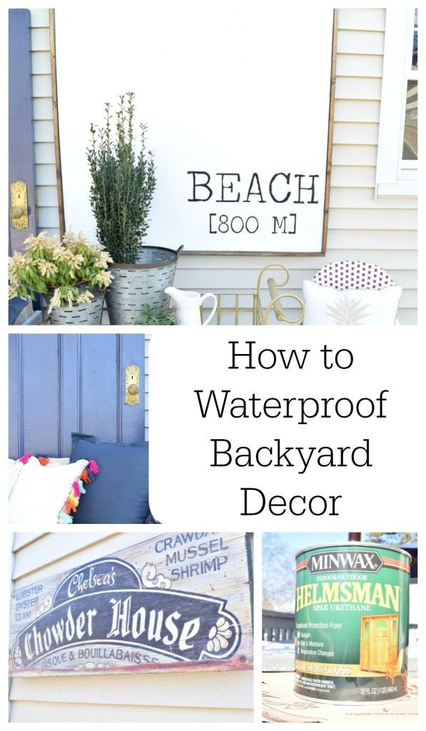 DIY Painted Deck and Decor | Painted decks, Wood signs and Nest