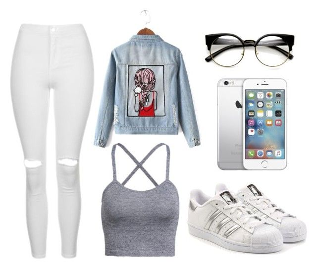 """show"" by elliot-clark ❤ liked on Polyvore featuring Topshop, Chicnova Fashion, adidas Originals and ZeroUV"