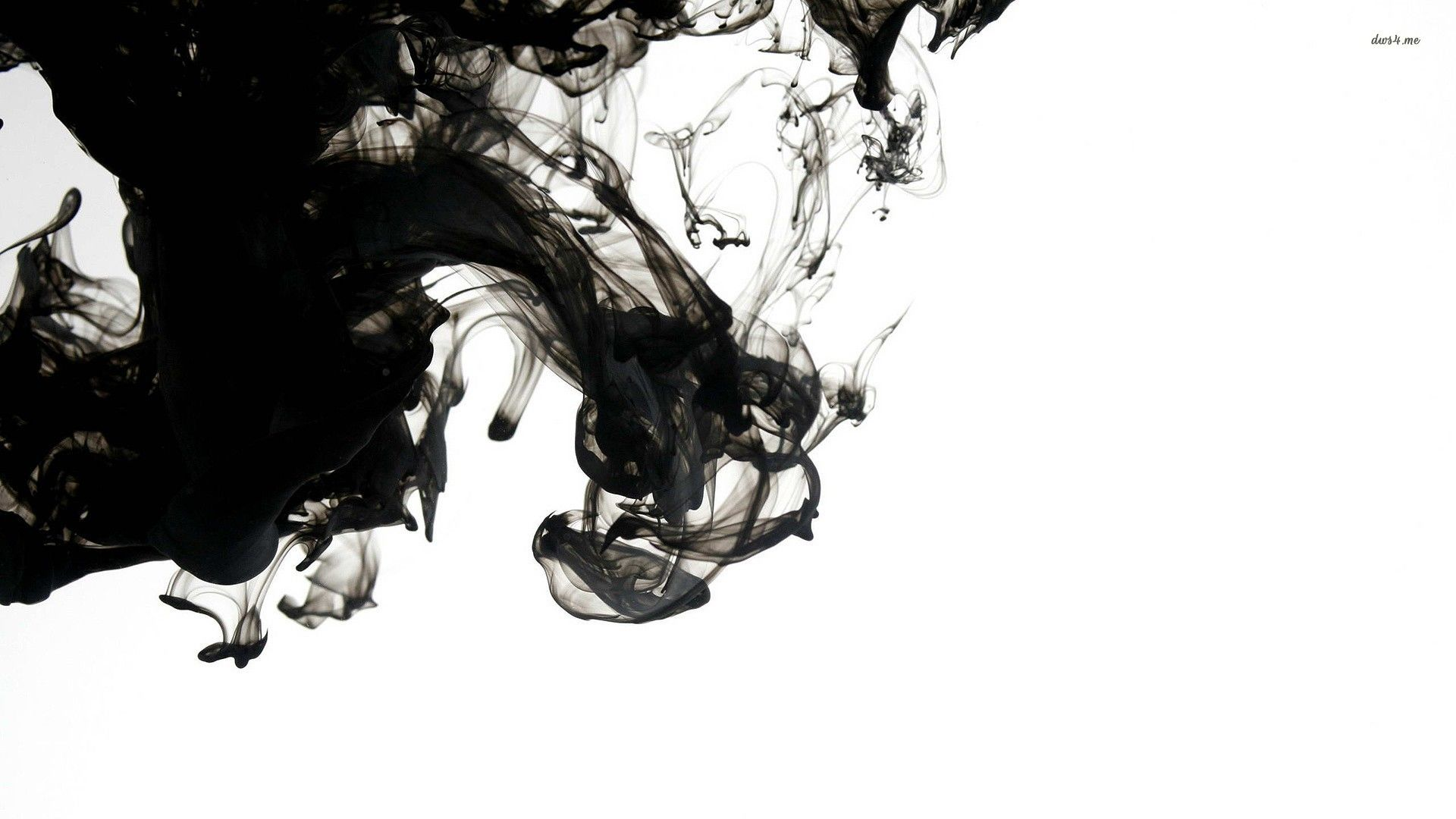 Saudade Or Maybe Lorca S Lost Echo Smoke Art Ink In Water Black Smoke