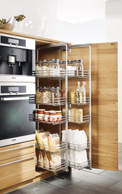 Mehr Stauraum für Küchen Ausziebares Korbsystem  - team 7 küche