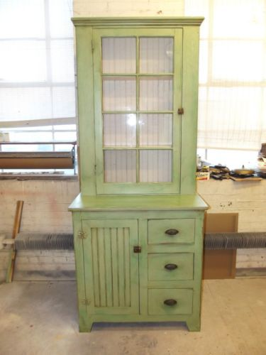 Antique Bead Board Gl Kitchen Jelly Cabinet Butlers Pantry Repurposed Wood In Antiques Furniture Cabinets Cupboards 1900 1950 Ebay